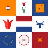 netherlands Sistema del icono Imagen de archivo