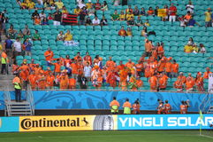 Netherlands soccer fans Stock Photography