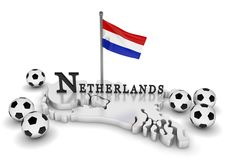 Netherlands Soccer Tribute Royalty Free Stock Image