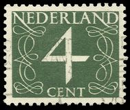 Netherlands, stamp,Numbers, Numeral Royalty Free Stock Photo