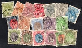 Netherlands stamps of Queen Wilhelmina Royalty Free Stock Photos