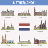 Netherlands. Symbols of cities Stock Photo