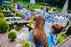netherlands Tana Haag L'Olanda Meridionale Parco miniatura Madurodam Luglio 2016 Fuoco selettivo fotografie stock libere da diritti