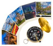 Netherlands travel images my photos and compass stock photo