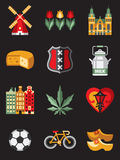 Netherlands Travel Symbols Stock Photos