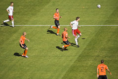 Netherlands v. Denmark - FIFA WC Royalty Free Stock Photos