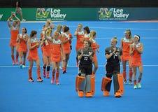 Free Netherlands Versus South Korea Womens Hockey World Cup Stock Image - 122140091