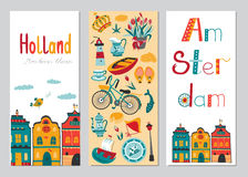 Netherlands vertical banner templates Stock Photos