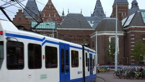 Netherlands videoclip national museum called Rijksmuseum City of Amsterdam stock footage