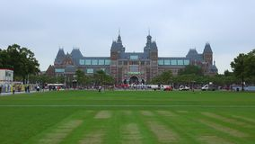 Netherlands videoclip national museum called Rijksmuseum City of Amsterdam stock video footage