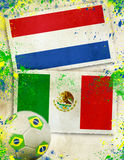 Netherlands vs Mexico football concept Royalty Free Stock Image