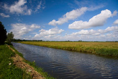 Netherlands water channel. Netherlands - water channels - landscape view stock images