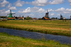 Netherlands wind mills. Netherlands - willage of water mills royalty free stock image