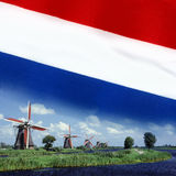Netherlands - Windmills - Flag Stock Images