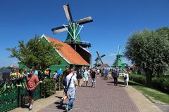 Netherlands windmills Royalty Free Stock Photography