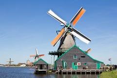 Netherlands, Zaanse Schans, windmill Stock Photography
