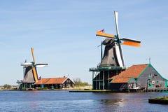Netherlands, Zaanse Schans, windmill Stock Photos