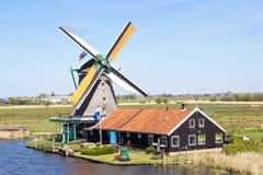 Netherlands, Zaanse Schans, windmill Royalty Free Stock Photos