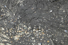 Close-up of the surface of the Brouwersdam, the seventh structure of the Delta Works. Royalty Free Stock Image