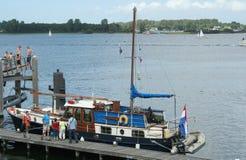 Ships and boats are mooring in the harbor of Veere. Netherlands,Zeeland,Walcheren,Veere, july2016: Ships and boats are mooring in the harbor of Veere Stock Photos