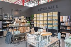 Riverdale fashionable living products in a Intratuin plant center in Zoetermeer, Nether Royalty Free Stock Photos