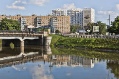 Netichensky bridge over the river Kharkiv Stock Photo