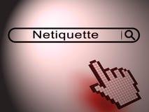 Netiquette-höfliche on-line-Führung oder Netz-Etikette - Illustration 3d stock abbildung