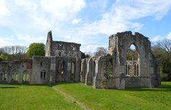 Netley Abbey Ruin Stockfoto