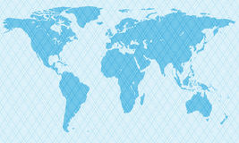 Netlike map Stock Photo