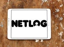 Netlog networking strony internetowej ogólnospołeczny logo Obrazy Stock