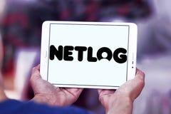 Netlog networking strony internetowej ogólnospołeczny logo Obrazy Royalty Free