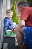 Neto e avô Fotos de Stock