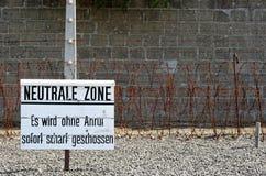 Netral strefa w nazisty obozie Fotografia Royalty Free
