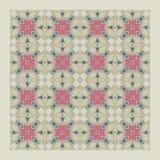Netrivail abstrakcjonistyczny kwiecisty geometryczny wzór, tło, wektor bezszwowy ilustracja wektor