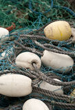 Nets. A fishing net with floats at Peggy's Cover, Nova Scotia Stock Photography