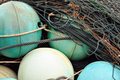 Nets and Floats. Image of fishing nets and float stock images
