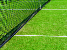 The nets intersect of tennis court. Tennis court on the vacation time Royalty Free Stock Photography