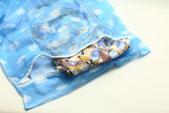 Nets laundry bag, for washing clothes in washing machine on white background. Royalty Free Stock Images