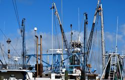 Nets on commercial fishing boats Royalty Free Stock Image