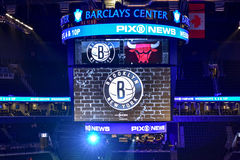 Nets vs Bulls Basketball at Barclays Center Royalty Free Stock Photography
