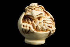 Netsuke 02. Netsuke (japan amulet) isolated on black Stock Image