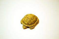 Netsukeschildpad op witte achtergrond wordt geïsoleerd die Royalty-vrije Stock Afbeeldingen