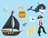 Nett von der Piratensammlung lizenzfreie abbildung