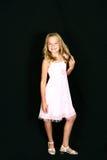 Nett wenig blond im Kleid Lizenzfreie Stockfotografie