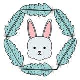 Nett wenig Kaninchen mit Federrahmen lizenzfreie abbildung