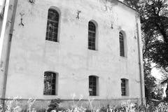 Nette alte verstärkte mittelalterliche sächsische evangelische Kirche im Dorf Somartin, Martinsberg, Märtelsberg, Siebenbürgen,  Stockbilder