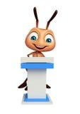 nette Ameisenzeichentrickfilm-figur mit Sprachestadium Stockbilder