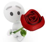 Nette Angebote des Kerls 3d Sie eine Rose Stockfoto