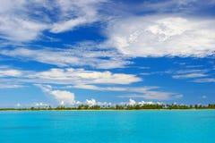 Nette Ansicht in den Indischen Ozean Stockbild