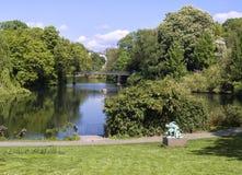 Nette Ansicht eines Parks in Kopenhagen Lizenzfreie Stockfotografie